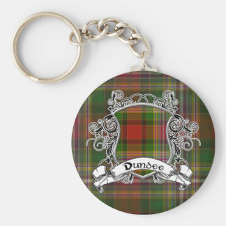 Dundee Tartan Shield Key Ring