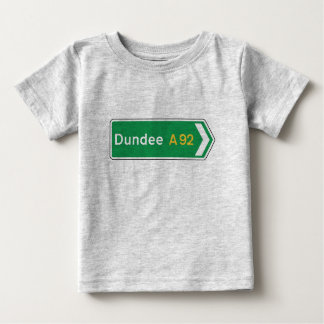 Dundee, UK Road Sign Baby T-Shirt