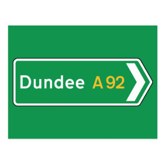 Dundee, UK Road Sign Postcard