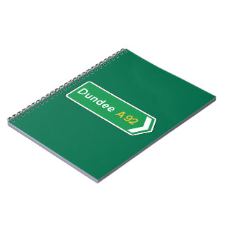 Dundee, UK Road Sign Spiral Note Book