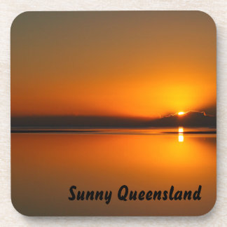 Dundowran Beach sunrise drink coaster set