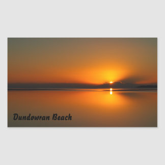 Dundowran Beach sunrise rectangular sticker