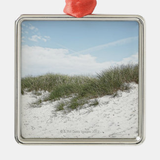 Dune at a beach in scandinavia. christmas ornament