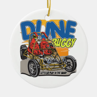 Dune Buggy Play in the Sand Christmas Ornament