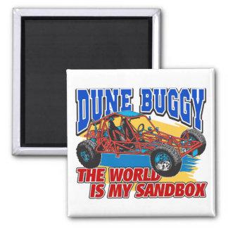 Dune Buggy Sandbox Square Magnet