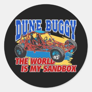 Dune Buggy Sandbox Round Sticker