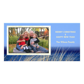 Dune Grass Christmas by the Sea Custom Photo Card