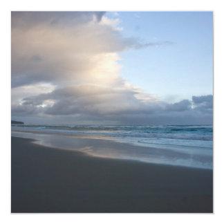 "Dunedin Beach at Dusk DSC6544 5.25"" Square Invitation Card"