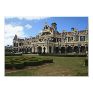 Dunedin Railway Station, New Zealand 13 Cm X 18 Cm Invitation Card
