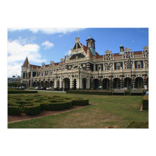 Dunedin Railway Station, New Zealand Personalized Invites