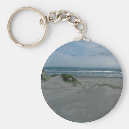 Dunes Near The Sea Basic Round Button Key Ring
