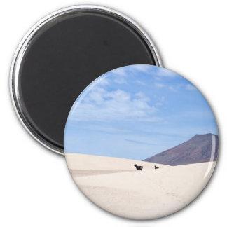 Dunes of Corralejo, Fuerteventura, Canary islands 6 Cm Round Magnet