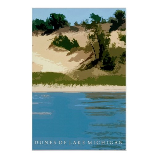 Dunes of Lake Michigan Poster