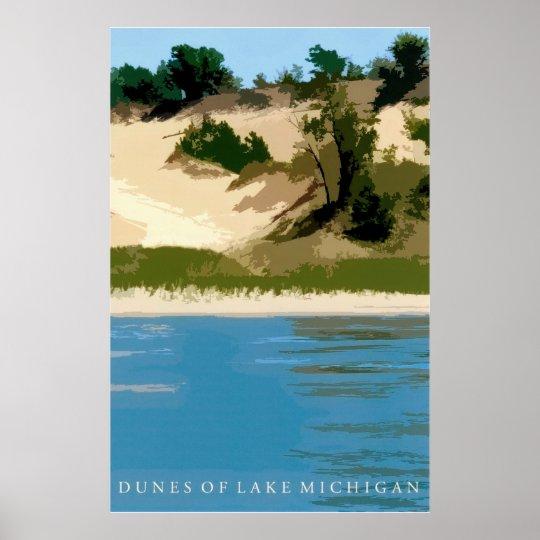 Dunes of Lake Michigan Poster