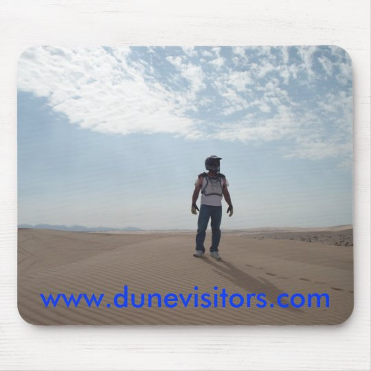dunevisitor on top of the dunes, w... - Customised Mouse Pad