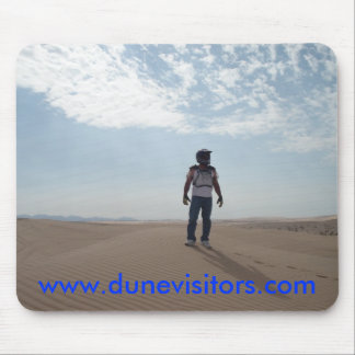 dunevisitor on top of the dunes, w... - Customized Mouse Mat