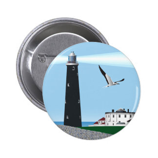 Dungeoness Lighthouse 6 Cm Round Badge