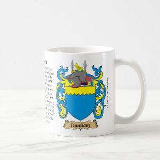 Dunham, the Origin, the Meaning and the Crest Mug