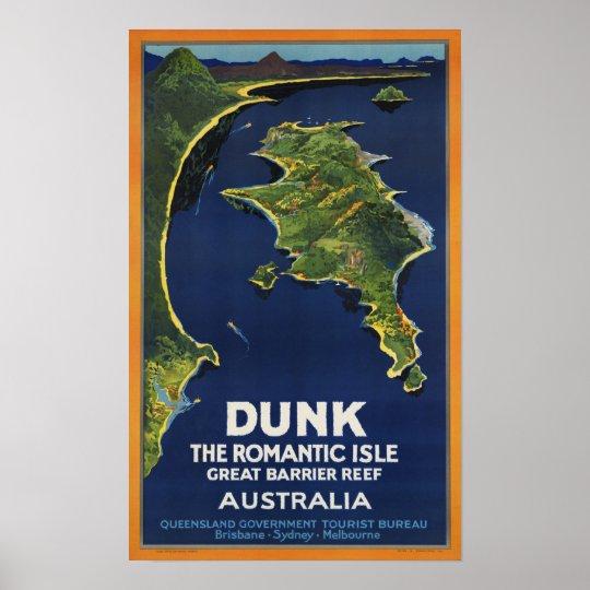 Dunk Island ~ Vintage Australia Travel Poster
