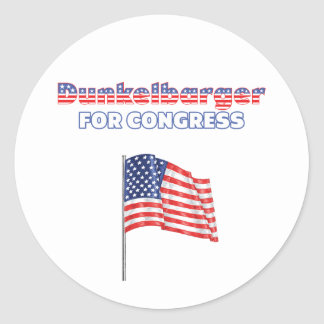 Dunkelbarger for Congress Patriotic American Flag Round Stickers