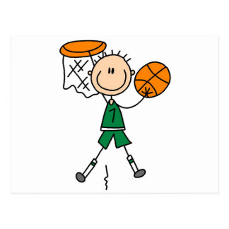 Dunking Boys Basketball Tshirts and Gifts Postcard