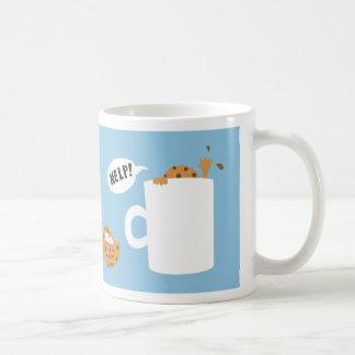 dunking cookie basic white mug