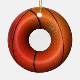 Dunking Donuts for Basketball FanS Round Ceramic Decoration