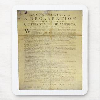 Dunlap Broadside Declaration of Independence 1774 Mouse Pad