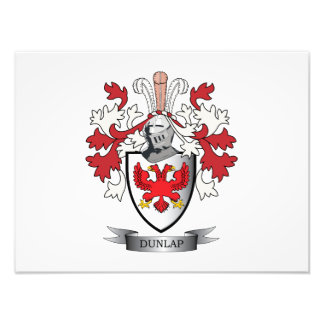 Dunlap Family Crest Coat of Arms Photographic Print