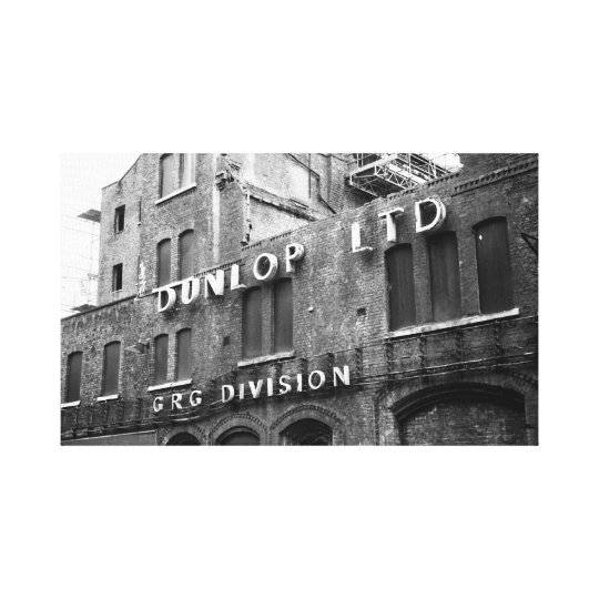 Dunlop Factory Canvas Print