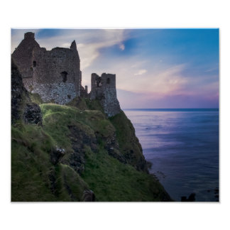 Dunluce Castle in Northern Ireland Poster