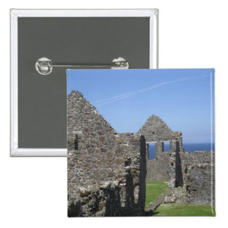 Dunluce Castle near Bushmills and Portrush, 15 Cm Square Badge