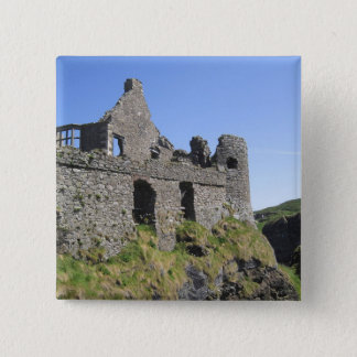 Dunluce Castle near Bushmills and Portrush, 3 15 Cm Square Badge