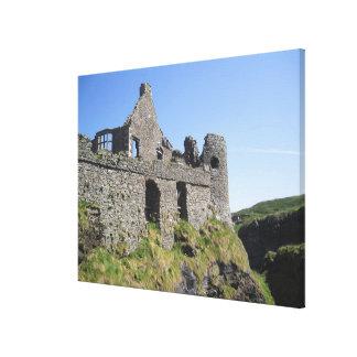 Dunluce Castle near Bushmills and Portrush, 3 Canvas Print