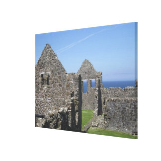 Dunluce Castle near Bushmills and Portrush, Canvas Print
