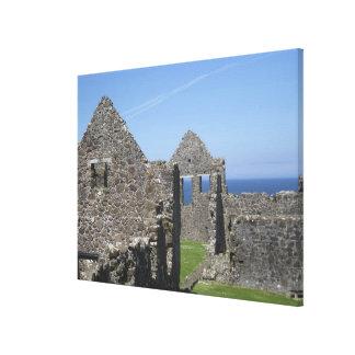 Dunluce Castle near Bushmills and Portrush, Canvas Print