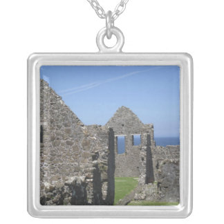 Dunluce Castle near Bushmills and Portrush, Silver Plated Necklace