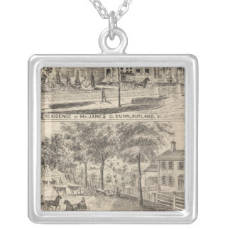 Dunn, Burditt and Benedict residences in Rutland Silver Plated Necklace