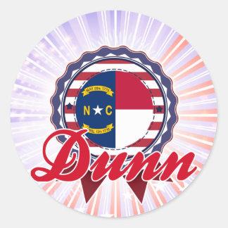 Dunn, NC Round Sticker