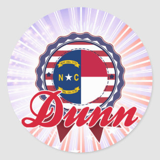 Dunn, NC Classic Round Sticker