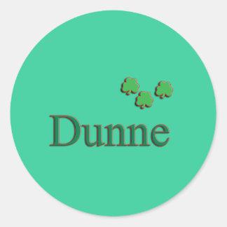 Dunne Family Round Sticker
