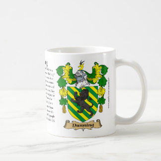 Dunning, the Origin, the Meaning and the Crest Mug