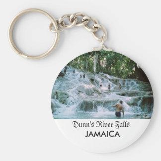 Dunn's River Falls Basic Round Button Key Ring