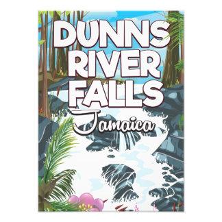 Dunn's River Falls Jamaica travel poster