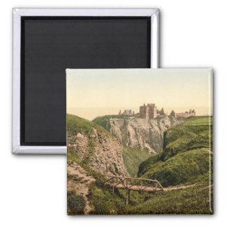 Dunottar Castle, Stonehaven, Scotland Square Magnet