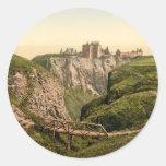Dunottar Castle, Stonehaven, Scotland Round Stickers
