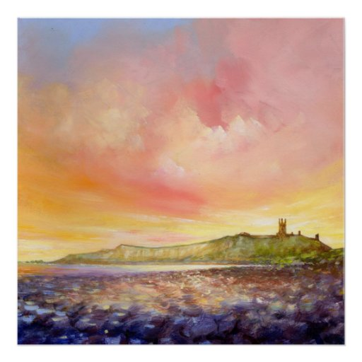 Dunstanburgh Castle Alnwick Northumberland Print