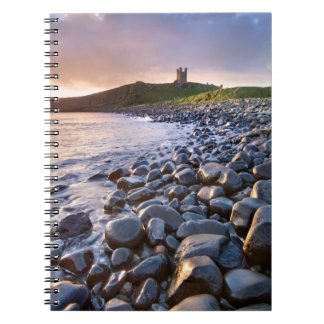 Dunstanburgh Castle dawn -  spiral bound notebook