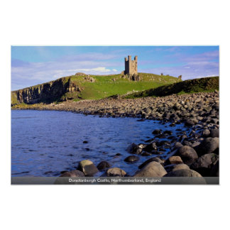 Dunstanburgh Castle, Northumberland, England Poster