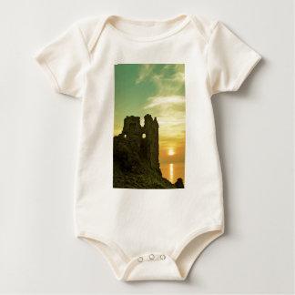 Dunure Castle Sunset Baby Bodysuit